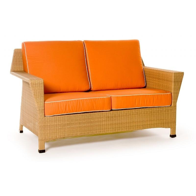 Mayan Resin Wicker Club Sofa Two Seater Ca604 22n