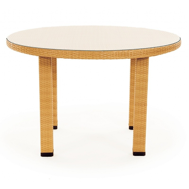 Caluco Mayan Outdoor Wicker Round Dining Table 48 Inch