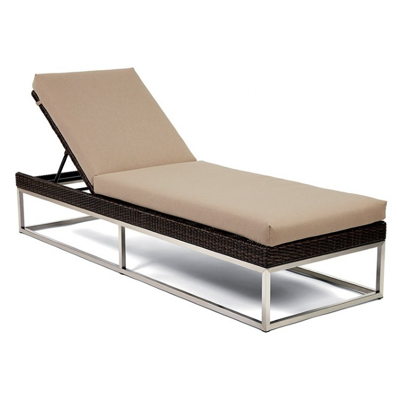 Mirabella Modern Wicker Chaise Lounge : Patio Chairs