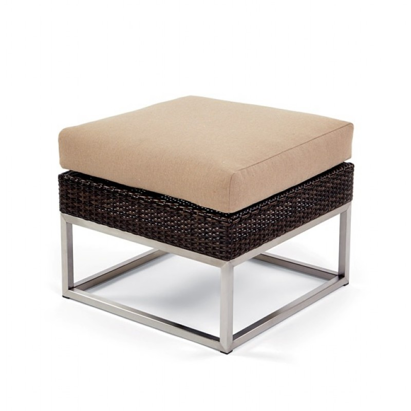 Caluco Mirabella Wicker Outdoor Sectional Ottoman with Cushion