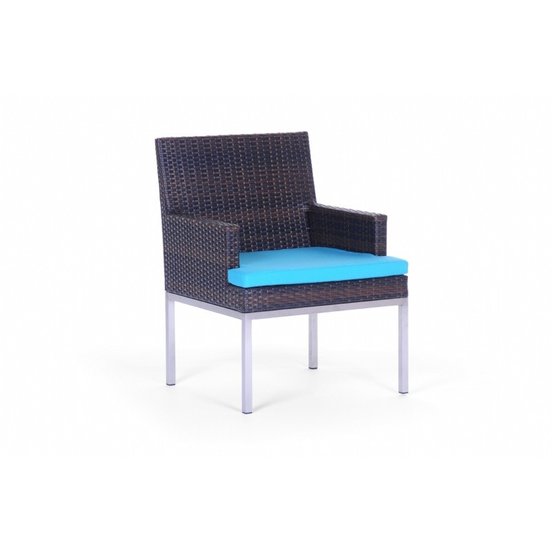 Mirabella Modern Wicker Dining Arm Chair : Outdoor Chairs