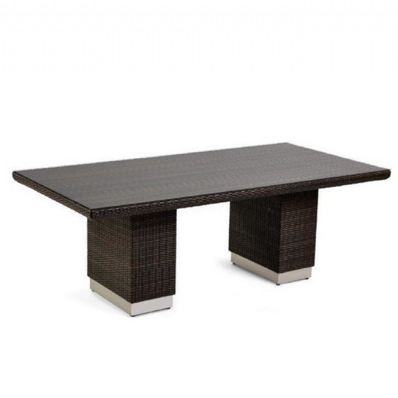 Mirabella Modern Wicker Rectangle Dining Table 84 inches