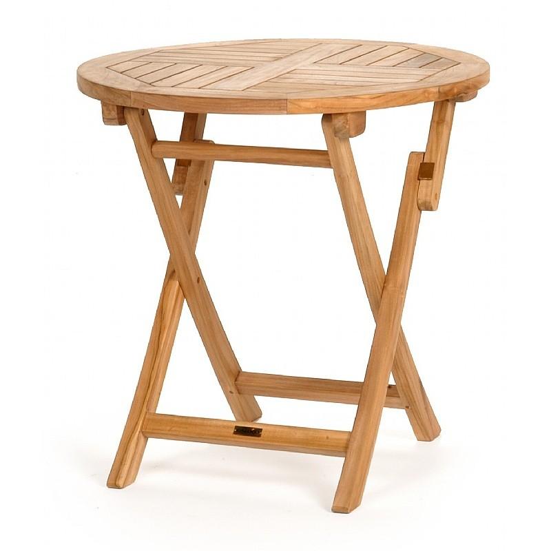 Modern Teak Round Folding Bistro Table 30 Inch Ca 50171
