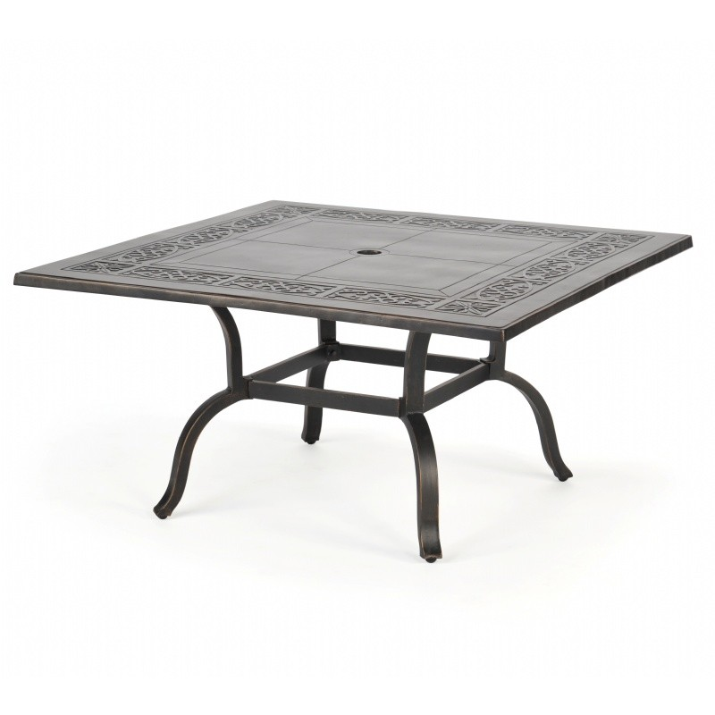 Novara Cast Aluminum Coffee Table 42 Inch Square CA-704-CH