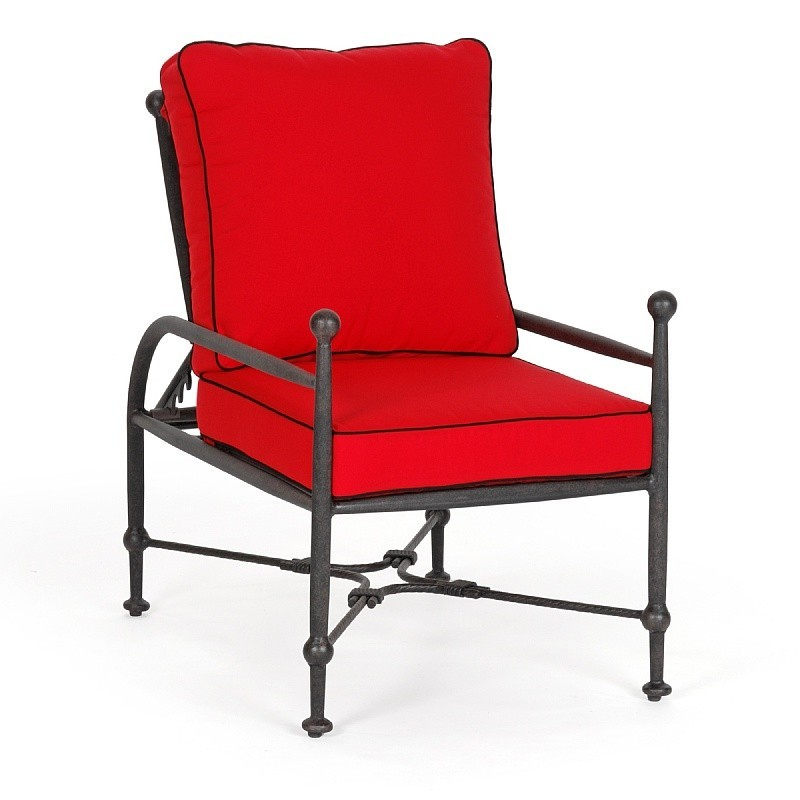 Origin Cast Aluminum Patio Club Chair Adjustable : Patio Chairs