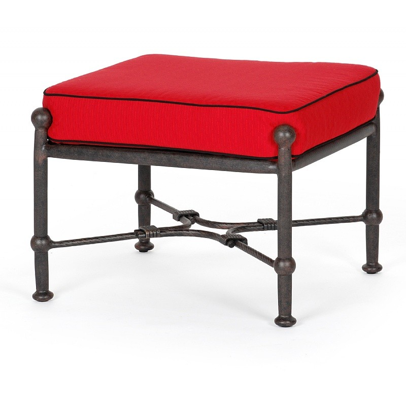 Origin Cast Aluminum Patio Club Ottoman