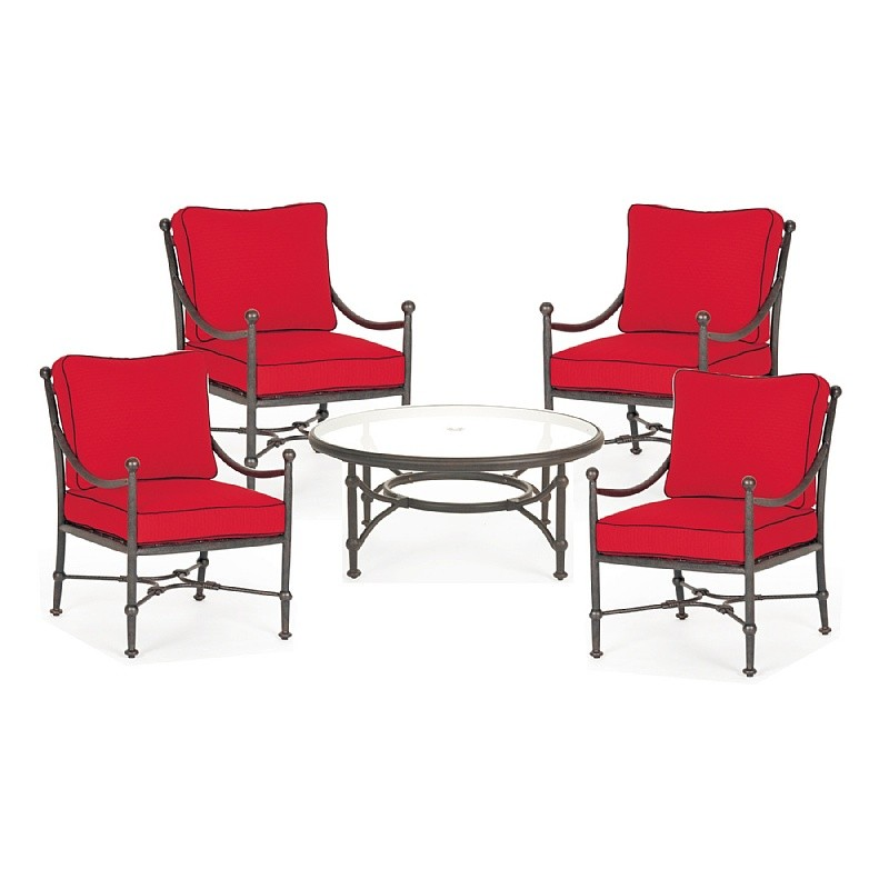 Outdoor Furniture: Outdoor Deep Seating Sets: Origin Cast Aluminum Patio Club Seating Chat Group 5 pcs