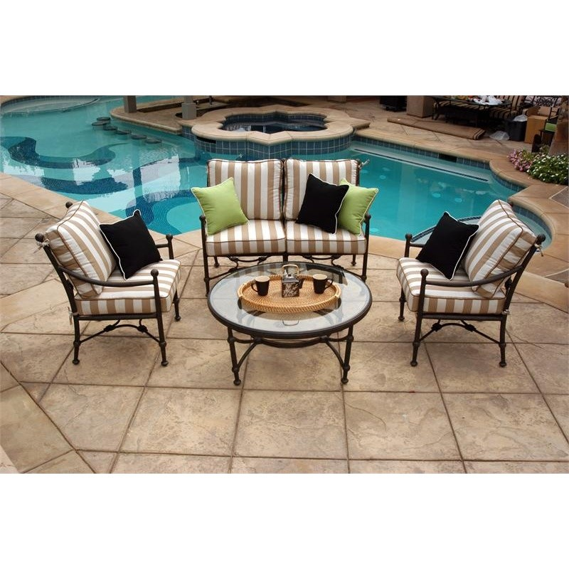 Origin Cast Aluminum Patio Club Seating Group 4 pcs : Patio Sets