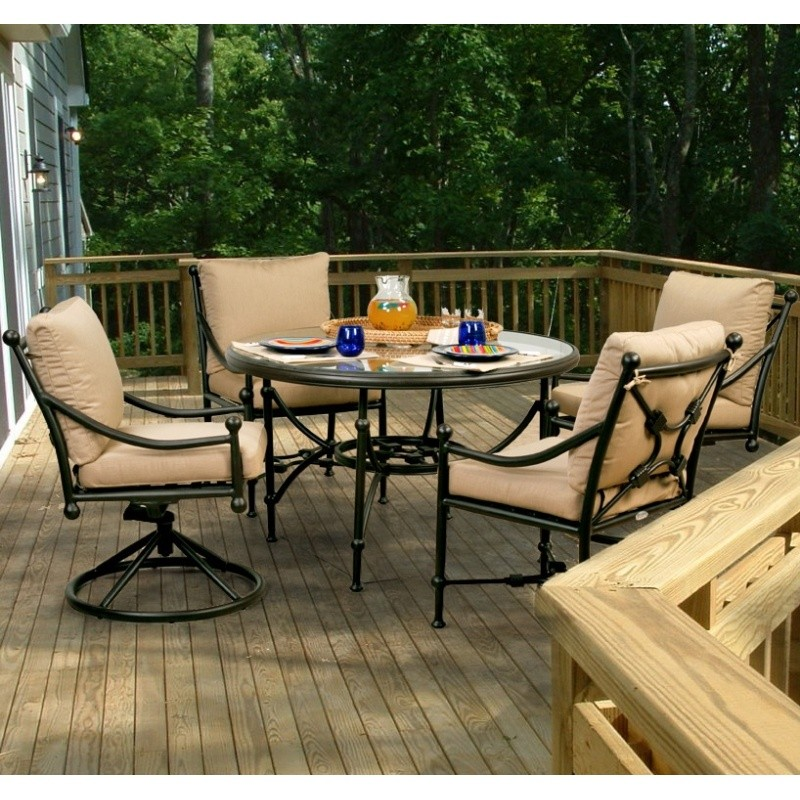 Patio Furniture Clearance: Origin Cast Aluminum Patio Dining Group 2/2 Round 5 pc.