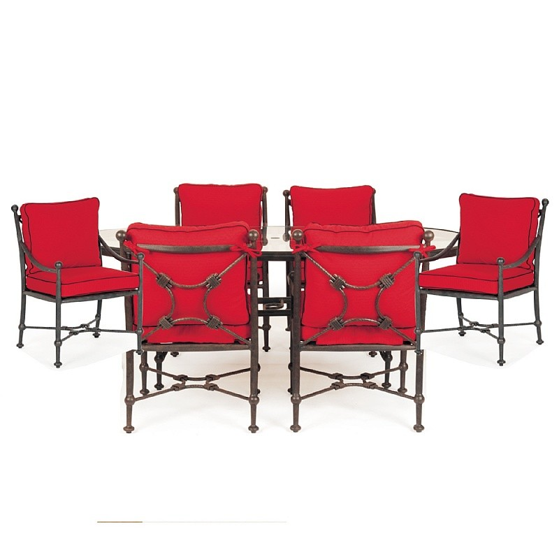 Origin Cast Aluminum Patio Dining Group Oval 7 pc.