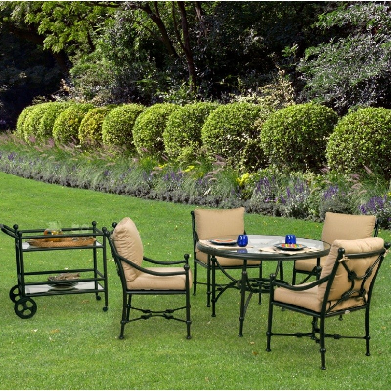 Origin Cast Aluminum Patio Dining Group Round 5 pc.