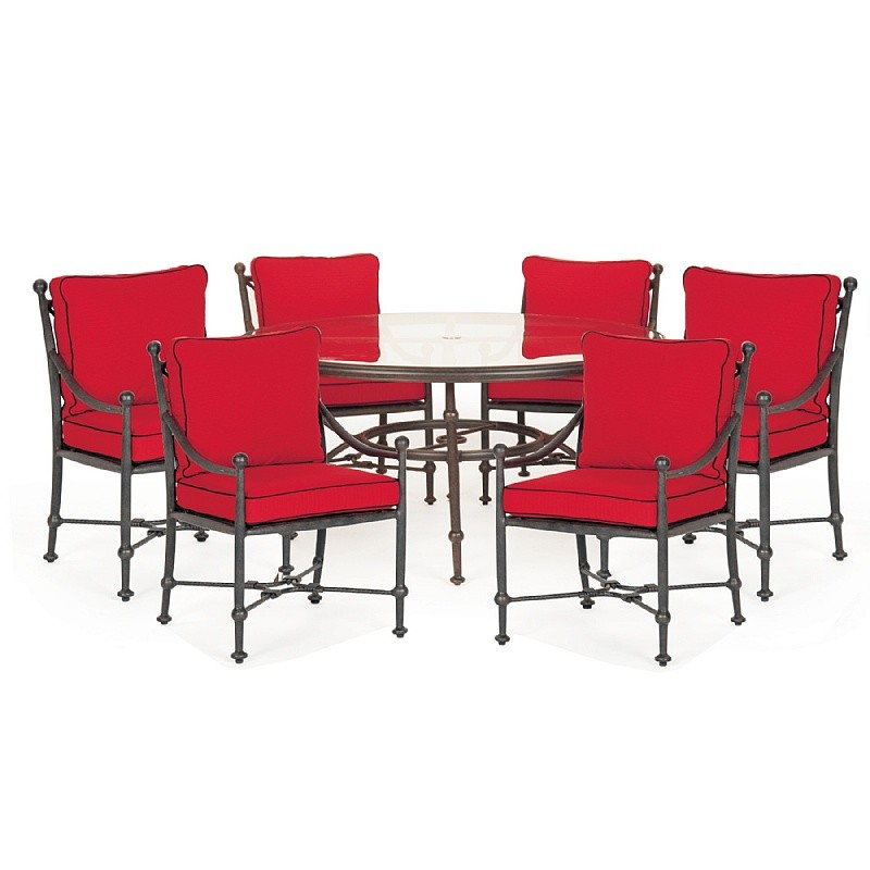 Patio Furniture Clearance: Origin Cast Aluminum Patio Dining Group Round 7 pc.