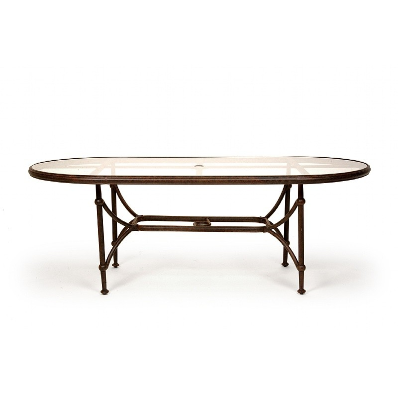 Origin Cast Aluminum Patio Oval Dining Table 84 inch