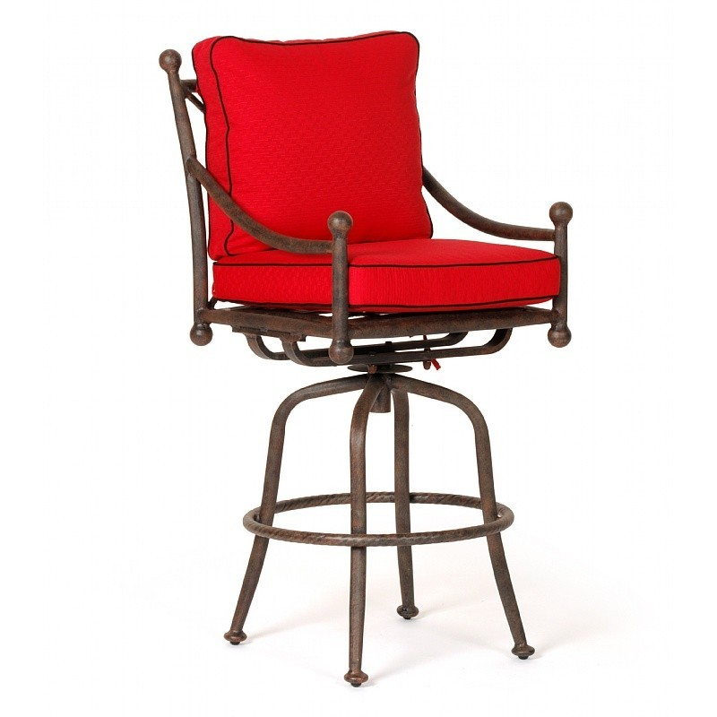 Origin Cast Aluminum Patio Swivel Bar Chair : Outdoor Chairs