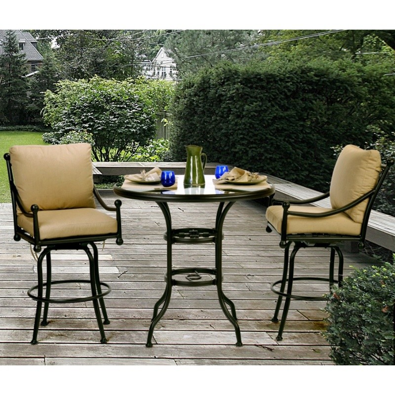 Furniture  Sets on Origin Cast Aluminum Swivel Bar Group 3 Pc  Ca 888 703