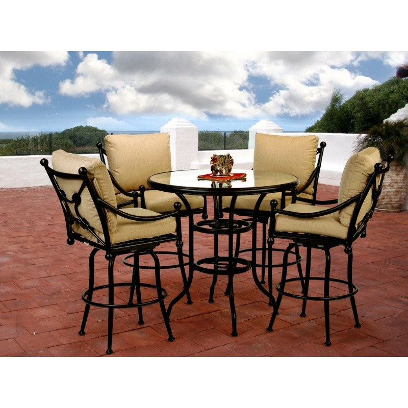 Origin Cast Aluminum Patio Swivel Bar Group 5 pc. : Patio Sets