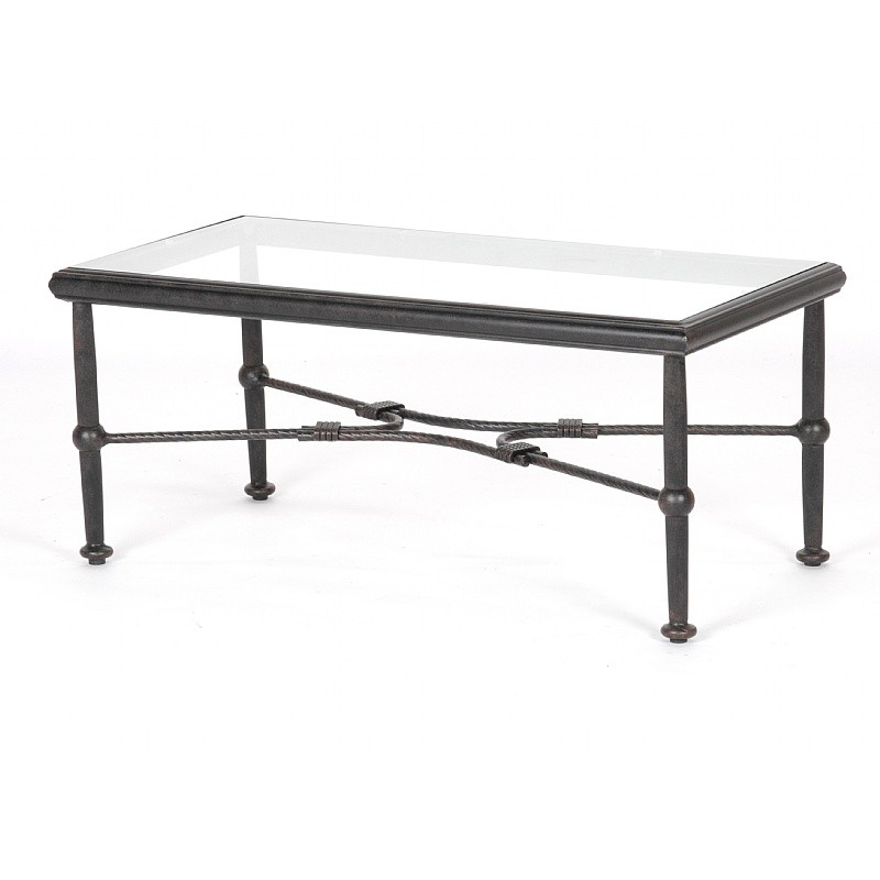 Patio Furniture Clearance: Origin Cast Aluminum Rectangle Coffee Table 40 inch