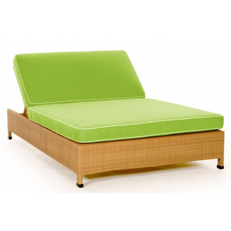 Caluco Point Dome Wicker Outdoor Double Chaise Lounge Ca695 99