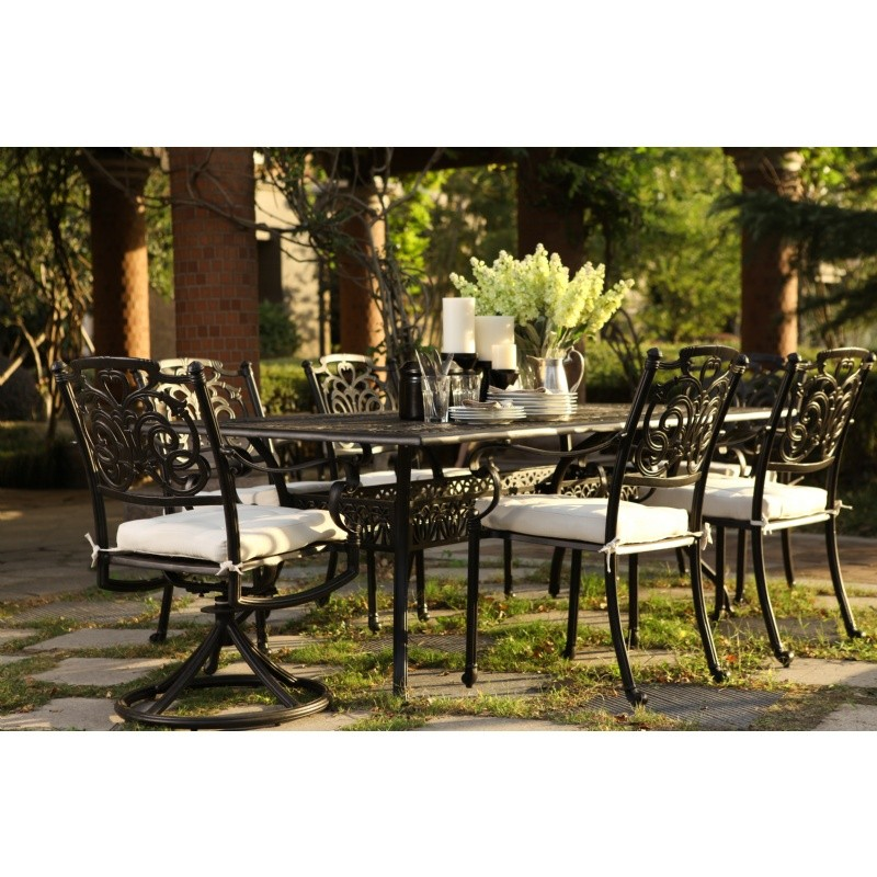 R Palace Cast Aluminum Outdoor Dining Set 7 pc.