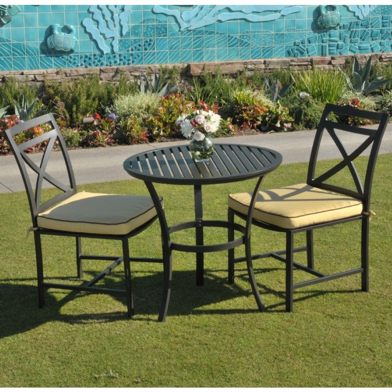 Outdoor Furniture: Bistro Sets: San Michelle Cast Aluminum Bistro Set 3 Piece