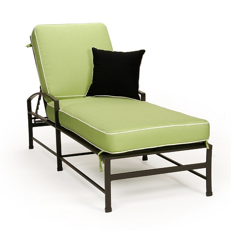 San Michelle Cast Aluminum Chaise Lounge : Patio Chairs