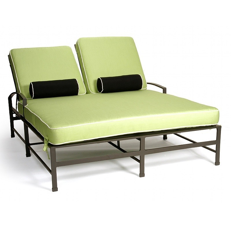 caluco san michelle cast aluminum outdoor double chaise