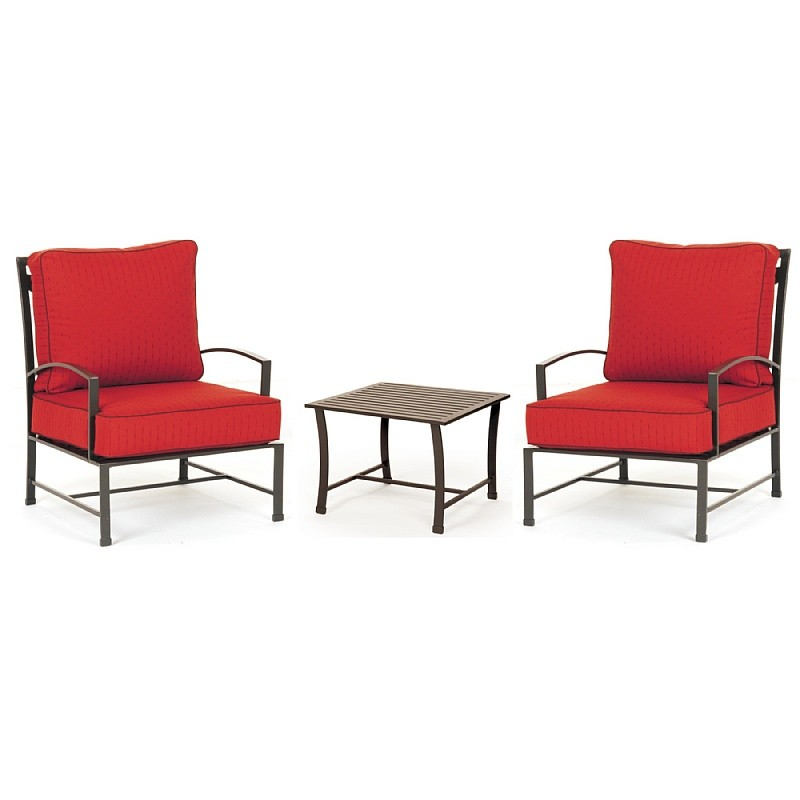 San Michelle Cast Aluminum Club Conversation Set 3 Piece : Patio Sets