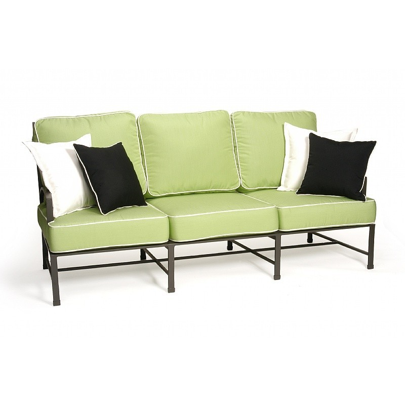 San Michelle Cast Aluminum Club Couch Sofa : Sofas