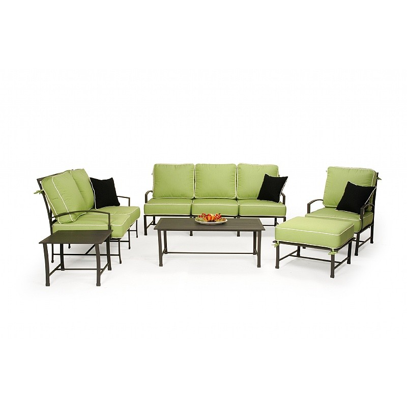 San Michelle Cast Aluminum Club Deep Seating Group 6 piece : Patio Sets