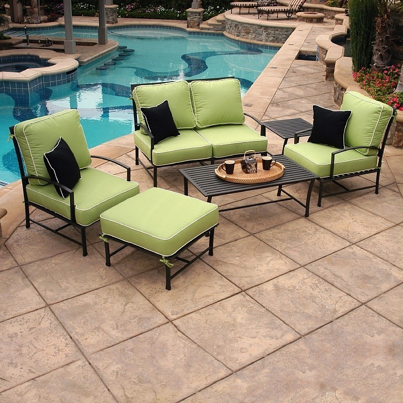San Michelle Cast Aluminum Club Seating Group 6 piece : Patio Sets