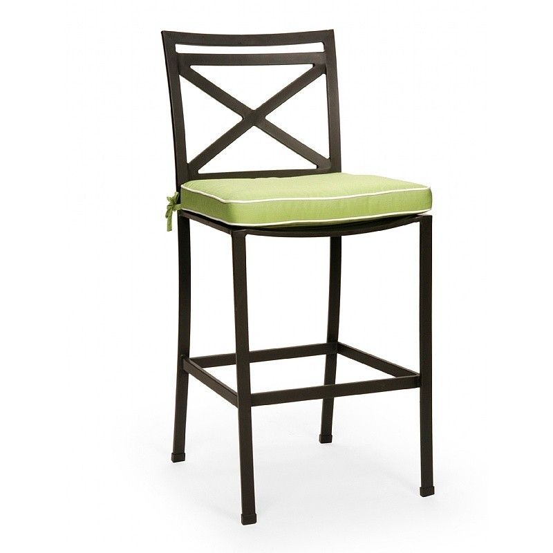 San Michelle Cast Aluminum Dining Bar Chair : Outdoor Chairs