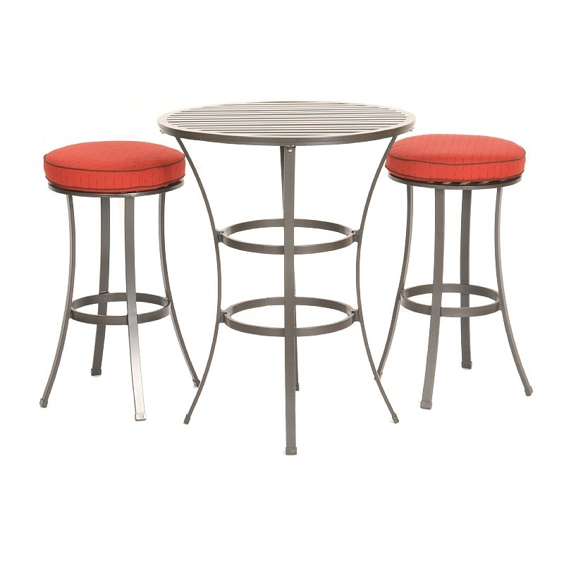 Outdoor Furniture: Bistro Sets: San Michelle Cast Aluminum Dining Bar Bistro Set 3 Piece