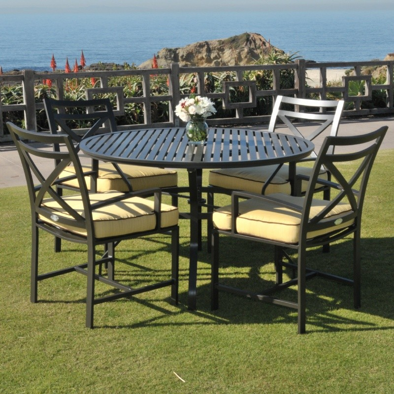 San Michelle Cast Aluminum Patio Dining Set 5 Piece