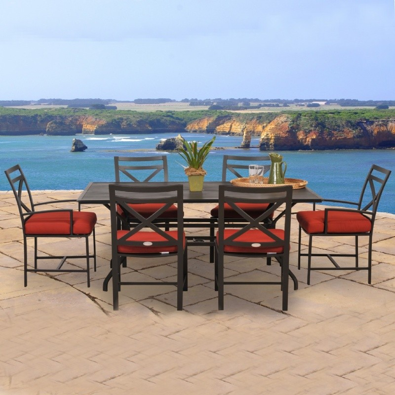 San Michelle Cast Aluminum Dining Patio Set 7 Piece
