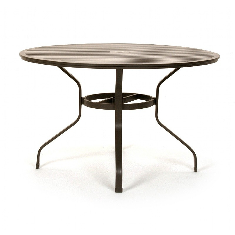 san michelle cast aluminum round dining table 48 inch
