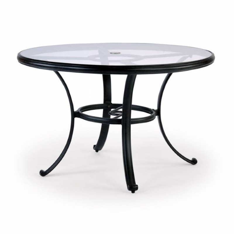 Newly added outdoor furniture products: Round Dining Tables: Venice Die Cast Aluminum Round Dining Table 48 inch
