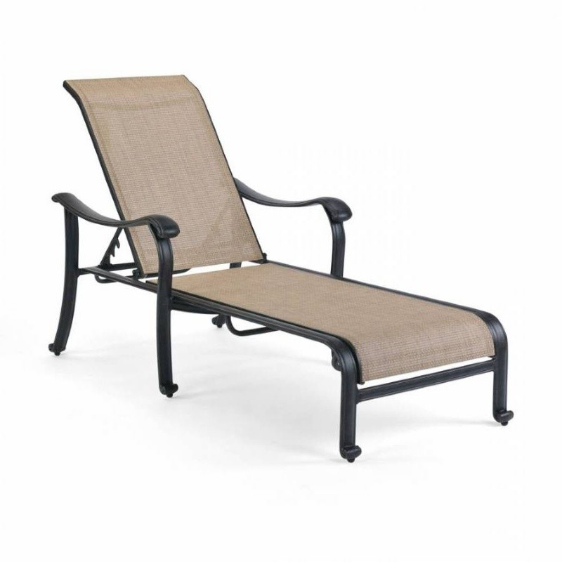 Newly added outdoor furniture products: Chaise Lounges: Venice Die Cast Sling Outdoor Chaise Lounge