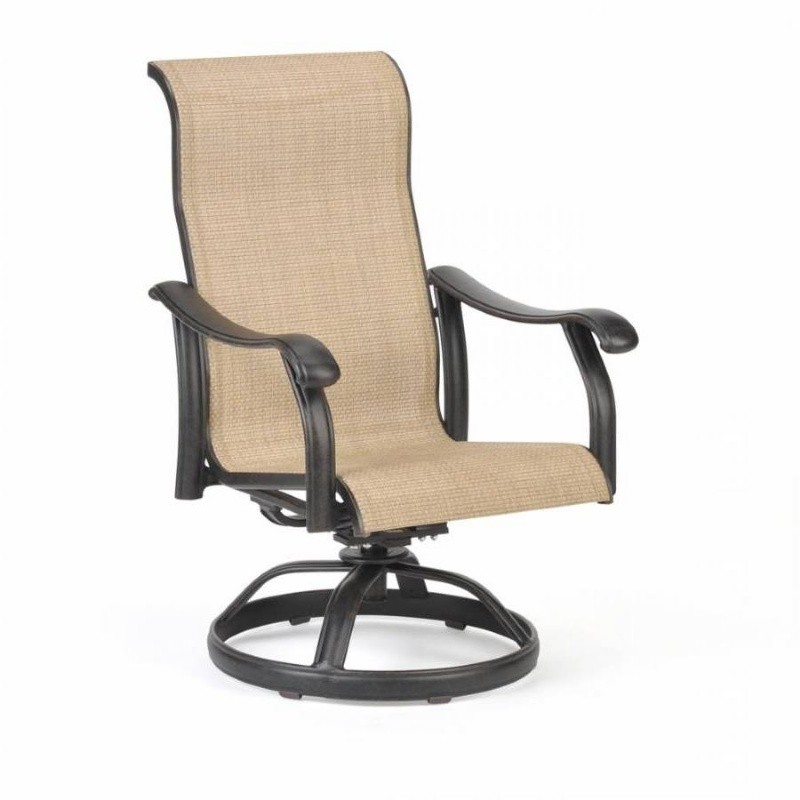 Venice Die Cast Sling Outdoor Swivel Rocker Chair : Dining Chairs