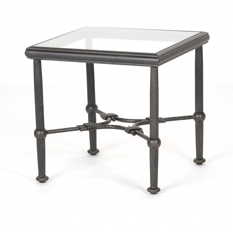 Newly added outdoor furniture products: Coffee Tables: Venice Die Cast Square End Table 21 inch