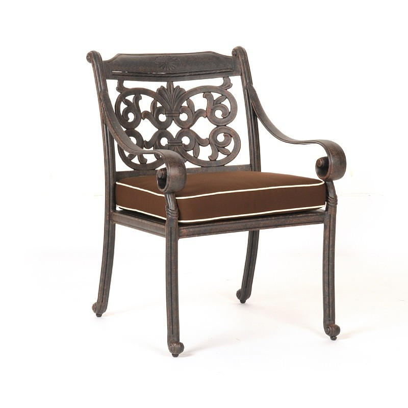 Victoria cast aluminum outdoor restaurant dining chair ca