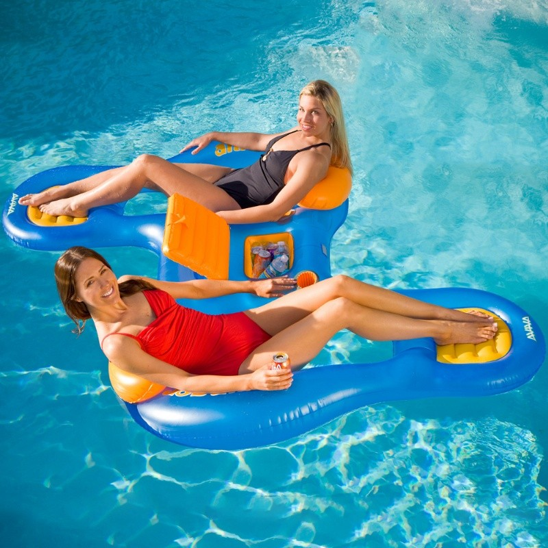 Ahh-Aqua Pool Float Lounger with 2 seats