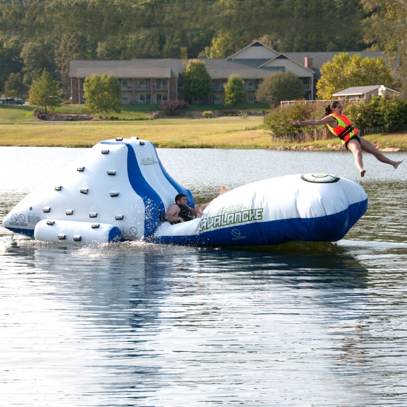 Avalanche Water Park with Katapult Launcher : Kids Water Bouncers