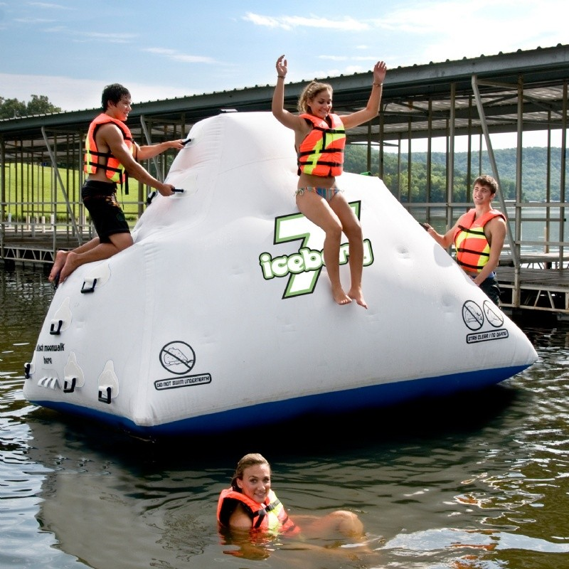 Lake Trampolines, Bouncers, Rafts: Iceberg Climb & Slide Lake Island 7 Feet
