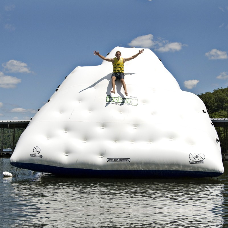 Oasis Island Inflatable: Iceberg Climb & Slide Wall Mountain 14 Feet High