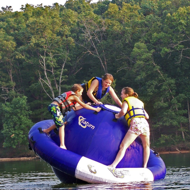Oasis Island Inflatable: Saturn Lake Rocker Sphere 8 Feet