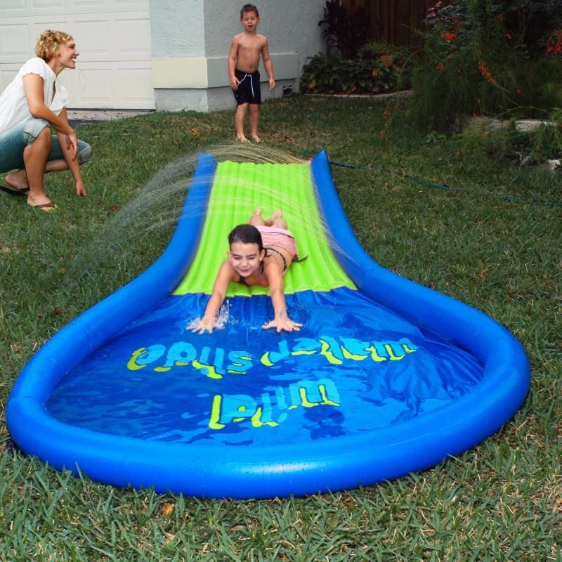 photos slide backyard inflatable water jump house interactive water