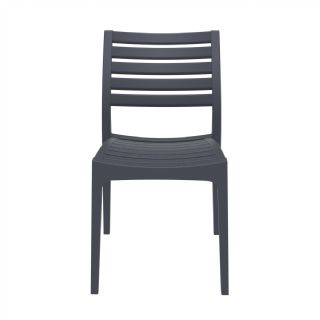 Ares Resin Outdoor Dining Chair Black ISP009 360° view