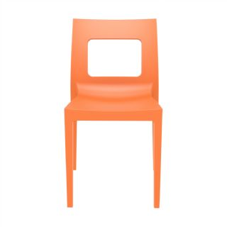 Lucca Outdoor Dining Chair Orange ISP026 360° view