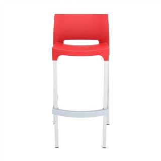 Gio Resin Outdoor Barstool Black ISP035 360° view
