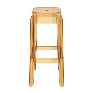 Fox Polycarbonate Outdoor Barstool Transparent ISP037 360° view